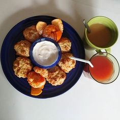 breakfast with the brother- #lowcarb cheddar biscuits and cuties #breakfast by avocadoanaconda