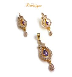 Purple passion ad #pendent set #earring  #jewellery  get online with #craftshopsindia