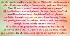 Christmas joke An old man phones children at Christmas Image copyright Ireland Calling