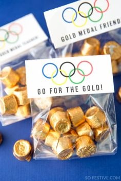 Olympic Party Kit (Party Favors, Trivia Game & More) – Party Ideas Olympic Idea, Olympic Games, Olympic Gymnastics, Olympic Medals, Olympic Sports, Party Favors, Party Games, Gourmet Gift Baskets, Gourmet Gifts