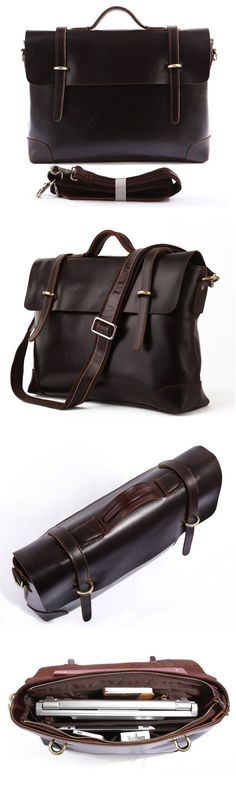 MEN LEATHER BRIEFCASE, MESSENGER BAG, LAPTOP BAG, BUSINESS MEN'S BAG