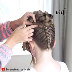 Upside down Braid with a flower bun! By: Hair Upside down Braid with a flower bun! By: Hair