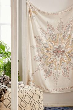 Plum & Bow Folky Fine Lines Tapestry