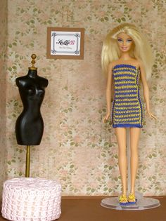 Check out this item in my Etsy shop https://www.etsy.com/listing/242494505/striped-knit-barbie-dress-and-shoes