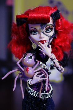 Operetta and Spider - Monster High Dolls, My picture before I knew what watermarking was about, LOL {tifaerie}