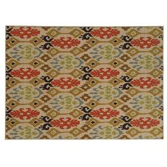 StyleHaven Ariel Abstract Tribal Rug, Med Beige