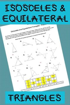 Triangle Maze - Classify by Angles | Pinterest | Maze, Triangles and ...