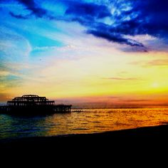 Sunset over the West Pier, Brighton