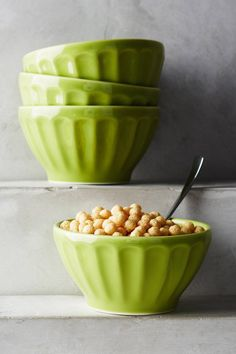 Lime Green Latte Bowls
