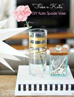 Knock it Off DIY: {Kate Spade Knock-Off} 'Fake a Kate' DIY Vase - Up to Date Interiors