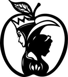 Silhouette Clip Art, Silhouette Portrait, Silhouette Projects, Cricut Stencils, Cricut Vinyl, Disney Decals, Disney Art, Snow White Apple, Acrylic Keychains