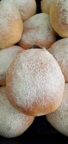 Ντονατς φούρνου με μερέντα(Berliner) Hamburger, Bread, Food, Brot, Essen, Baking, Burgers, Meals, Breads