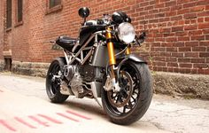 Titanium framed Ducati Monster S4RS from StradaFab