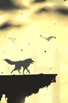 Wolf Link - Twilight Princess - the silhouette of Wolf Link?
