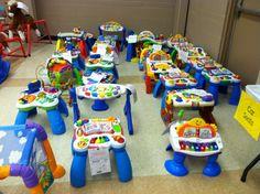 2014 Fall KID MANIA Hall 4 - Activity Tables.  www.KidManiaSale.com