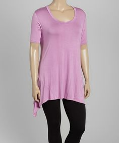This Lilac Sidetail Tunic - Plus by GLAM is perfect! #zulilyfinds
