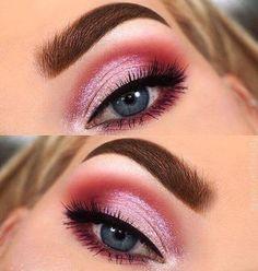 75 Most Gorgeous Pink Smokey Eyes Makeup Inspiration For Prom And Wedding - Diaror Diary Makeup Videos, Makeup Tips, Beauty Makeup, Hair Makeup, Makeup Trends, Makeup Brush Storage, Makeup Brush Cleaner, Eyeliner, Smokey Eyes