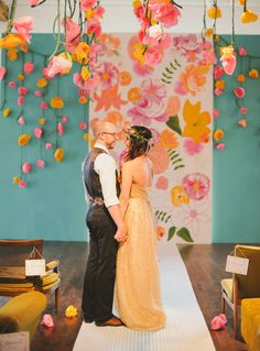 1970′s LoveFest Wedding: Carissa + Adam – Part 1 | Green Wedding Shoes Wedding Blog | Wedding Trends for Stylish + Creative Brides