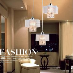 The Product Description iron pendent light | acrylic pendent light | dining room pendent light | 3495 | oovov.com  100% Brand New with high quality Model:Iron Pendent Light Size: Diameter 45cm, Height 100cm Cord Length:80cm, adjustable Light Source:E27*3(Price doesn't includes light bulbs) Voltage: 110-130V, 220-240V(We will prepare the lighting voltage according to the voltage of buyer's countries) Material:Iron,Acrylic Package included: 1*Pendent Lamp