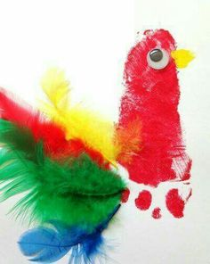 Colourful parrot footprint keepsake craft for baby or toddler. Colourful parrot footprint keepsake craft for baby or toddler. Kids Crafts, Zoo Crafts, Pirate Crafts, Daycare Crafts, Classroom Crafts, Animal Crafts, Summer Crafts, Baby Crafts, Toddler Crafts