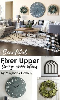 I love the show fixer upper. And these farmhouse style finds from pier1 are beautiful. I love that clock. They would look great in any living room. Love ithem all. #affiliate #livingroom #fixerupper #style #decor #ideas