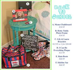 August is here & school is just around the corner! Brighten up your dorm or home with any of these adorable accessories! #school #college #dorm #apartment #campuslife #backtoschool