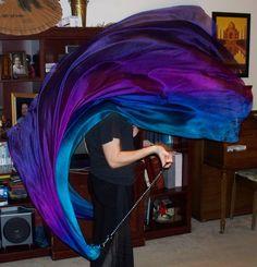 Sahariah's Silk Belly Dance Veil Poi Voi Set by SilksbySahariah