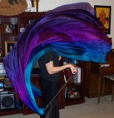 Sahariah's Silk Belly Dance Veil Poi Voi Set NEW COLORS