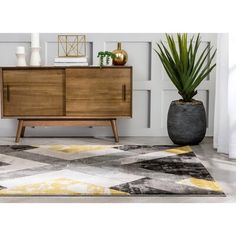 Well Woven Rosa Gold/Gray Rug   Wayfair Black And Grey Rugs, Black And Brown, 3d Texture, Geometric Patterns, Rug Size, Plush, Area Rugs, Colours, Abstract