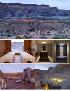 Amangiri resort, Utah  The resort is tucked into a protected valley with sweeping views towards the Grand Staircase-Escalante National Monument and every luxury suit features infinite views of the desert! Swoon