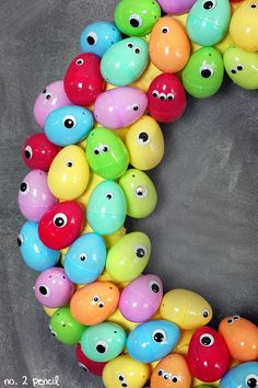 Googly Eyes Easter Egg Wreath - No. 2 Pencil