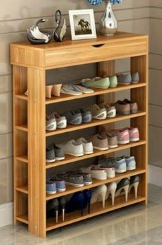 32 Brilliant Shoes Rack Design Ideas is part of diy-home-decor - The shoe organizer makes it possible to avoid accidentally using the incorrect shoes in visiting the office It is a rather practical shoe cabinet Naturally you are going to want…View Post Shoe Storage Cabinet, Storage Cabinets, Diy Storage, Bedroom Storage, Closet Storage, Entryway Storage, Diy Bedroom, Wood Cabinets, Storage Rack