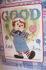 """Raggedy Ann & Andy Counted Cross Stitch Kit-GOOD LITTLE BOY 8"""" x 10"""" f.s.-New"""