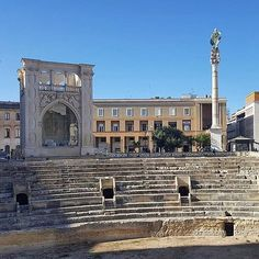 #BrowsingItaly repost: In an hour we'll be in Lecce where it's going to be a few days of feasting wining and cooking with @foodloversodyssey and @claudia_parisi1 Click the link in the profile for live updates! --- Photo credit: @foodloversodyssey Original caption: The Roman Amphitheatre in Lecce under a perfectly blue sky. Out for a gelato and walk around the historic center. by browsingitaly