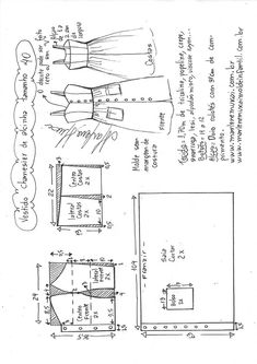 ideas for dress pattern diy vestidos Sewing Dress, Dress Sewing Patterns, Diy Dress, Sewing Clothes, Clothing Patterns, Diy Clothes, Fashion Sewing, Diy Fashion, Budget Fashion