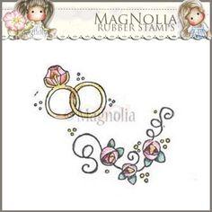 Magnolia Rubber Stamp - LD15 Lovely Rings & Roses ***PRE-ORDER***