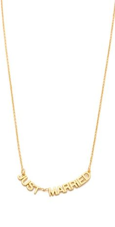 'just married' necklace #katespade
