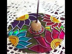 Cd Crafts, Diy And Crafts, Arts And Crafts, Mandala Art, Mandala Rocks, Cd Diy, Diwali Craft, Stained Glass Paint, Mexican Art