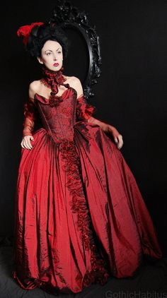 1f382b384276 Items similar to Rococo dress in red on Etsy