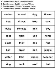 Naming Words Worksheet9 - esl-efl Worksheets - kindergarten Worksheets