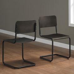 Emerson Metal Dark Brown Retro Dining Chairs (Set of 2) | Overstock™ Shopping - Great Deals on Dining Chairs
