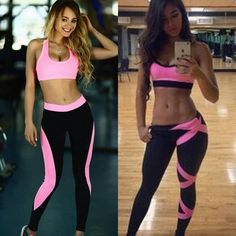 Women S Athletic Gym Exercise Yoga Clothes Running Yoga Fitness Sports Suits   fitnessapparel Gym Clothes Women c3b2d2fcaff