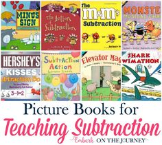 These picture books will bring your math lessons to life! Introduce or reinforce subtraction with these picture books and my free printables. | embarkonthejourney.com