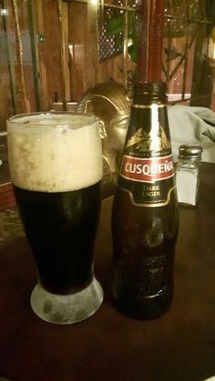 Cuzqueña dark lager, Stout dulce, de Perú, no es espesa, refrescante para ser negra. A repetir: si