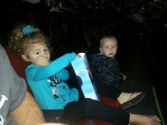 My beautiful daughter and son at Disney on ice having a blast