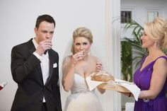 Bread, Salt, and Two Shot Glasses | Traditional Polish Wedding   totally going to do this with Johnny
