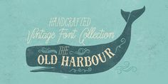 The Old Harbour is a font collection of 12 hand drawn fonts inspired by the vintage hand lettered signage, the old bottles' labels and the aesthetic of my favourite old school tattoos. The fonts can work together in endless combinations, to create beautif…