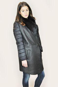 JESSIMARA BLACK SHEEPSKIN GILET & PUFFER COAT