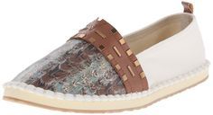 The SAK Women's Echo Feather Ballet Flat, Neutral Feather, 10 M US. EVA bottom. Printed Feather Design. Stud Detail. Crochet Detail. Cork Insole for Added Comfort.
