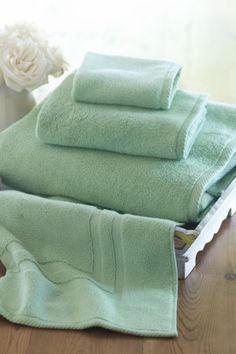 Cloud Soft Towel - Combed Cotton Towels, Bath Mats, Bath | Soft Surroundings  love the AQUA~ wishlist for bath, hand, 2 washcloths, and a mat